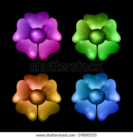 vector flower illustrations - stock vector