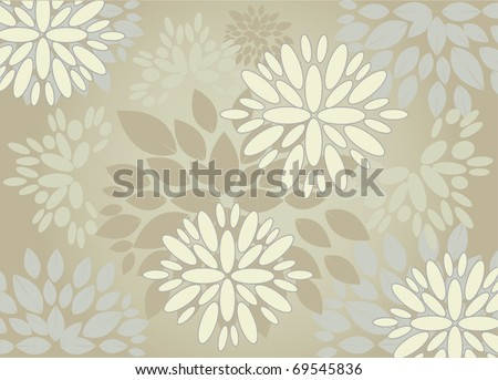 Vector flower pattern background, eps10 - stock vector