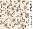 Vector flower pattern element - stock
