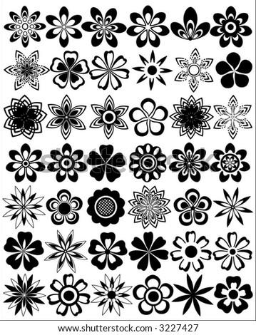 vector flowers - stock vector