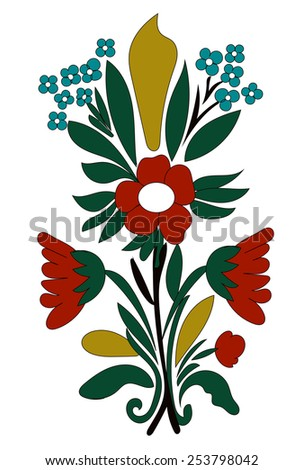 Vector Flowers Bouquet for your Design - stock vector