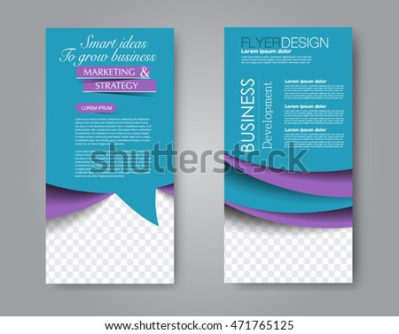 Vector Flyer Leaflet Design Set Two Stock Vector Hd Royalty Free