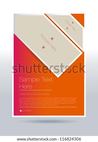 Vector flyer design - stock vector