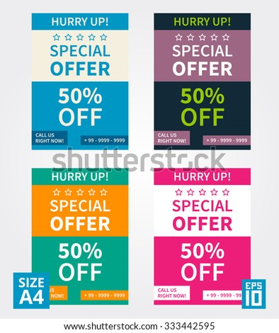 Vector Flyer Design Special Offer Business Stock Vector - Special offer email template