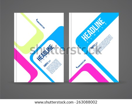 Vector flyer design template with details and company logo. Brochure template with text for business. - stock vector