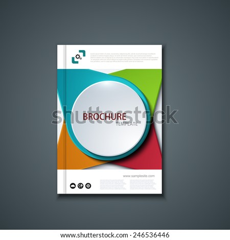 Vector flyer or banner. Brochure template design. Eps10 - stock vector