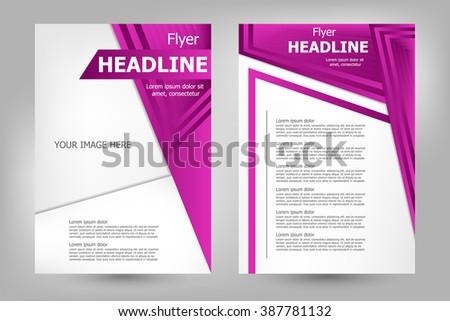 Vector flyer template design. For business brochure, leaflet or magazine cover - stock vector