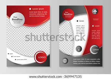 Vector Flyer Template Design Front Page Stock Vector 2018
