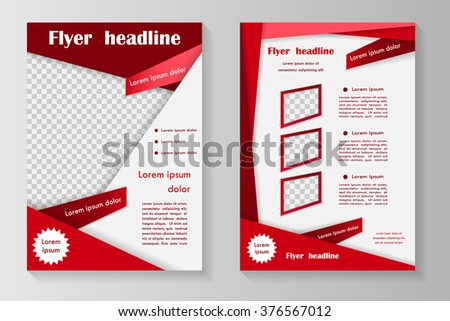 Vector Flyer Template Design Front Page Stock Vector 376567012