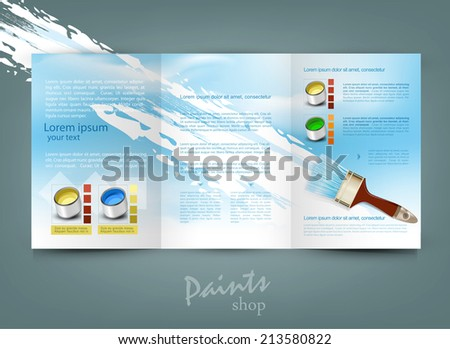 vector flyer template for business - stock vector
