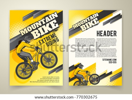 vector flyer ride on sports bicycle stock vector 770302675 shutterstock. Black Bedroom Furniture Sets. Home Design Ideas