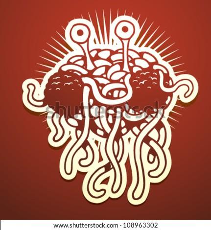Flying spaghetti monster symbol - photo#18