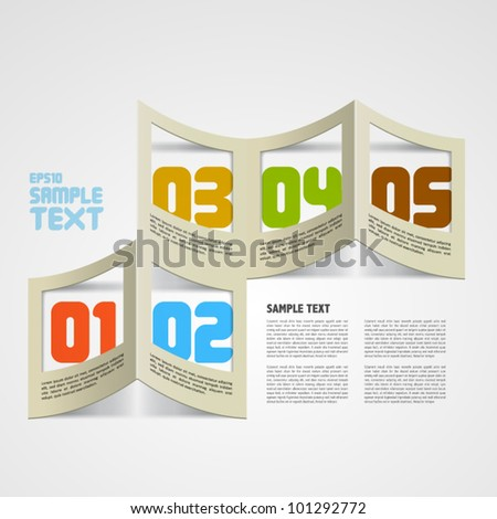 Vector Folded Paper Frame with Your Message - stock vector