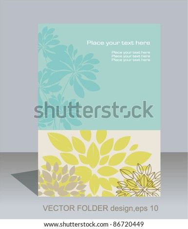 Vector folder design on floral background