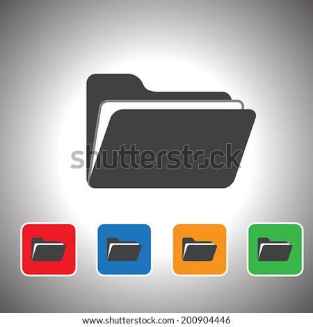 vector folder icon set - stock vector
