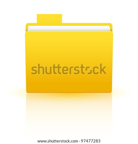 Vector folder isolated on white