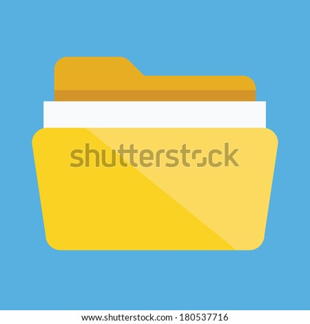 Vector Folder with Documents Icon - stock vector