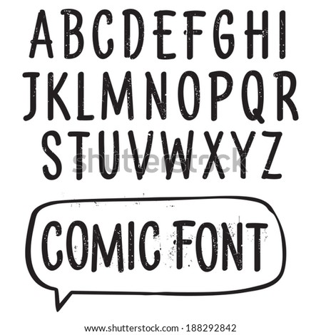 Vector font. Hand drawn scratched type for price tags and comic use. Grunge letters. - stock vector