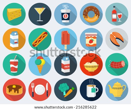 Vector food icons, set 2