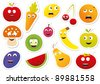 Vector food stickers - stock vector