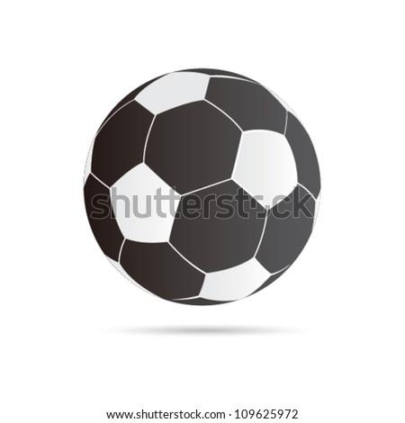 Vector football ball - stock vector