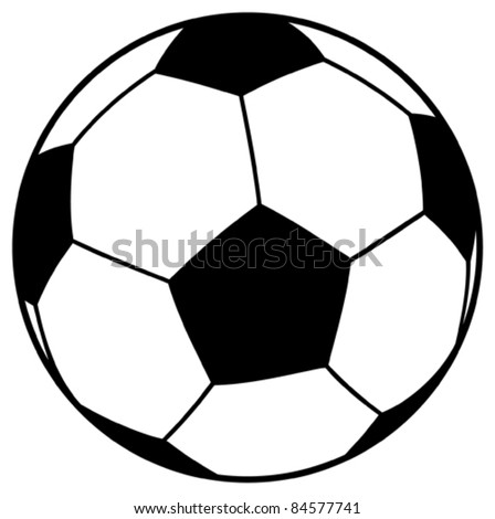 vector football ball (soccer) - stock vector