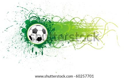 Vector football banner. - stock vector