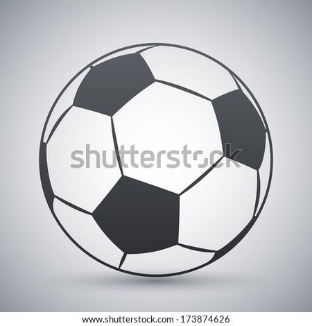 Vector football icon - stock vector