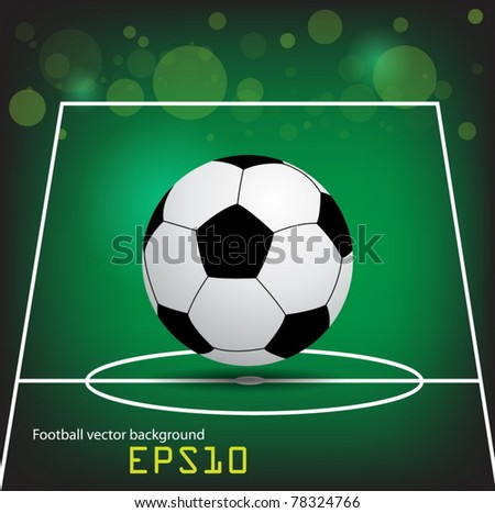 vector Football poster with place for your text - stock vector