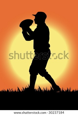 Vector football silhouette