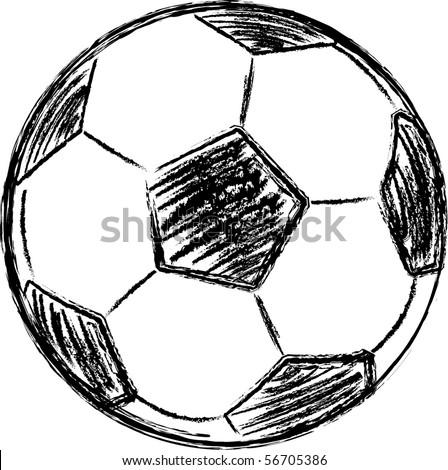 vector football sketch - stock vector