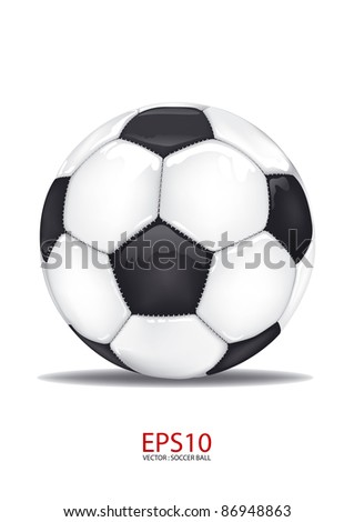 vector football soccer ball isolated on white - stock vector