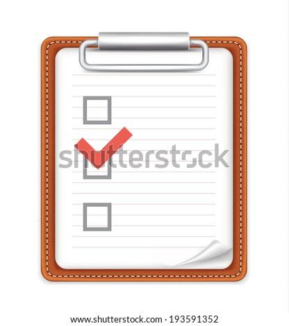 Vector Form with Checklist Icon - stock vector