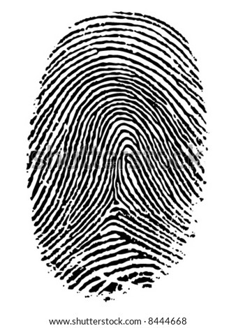 Vector format of finger print. - stock vector