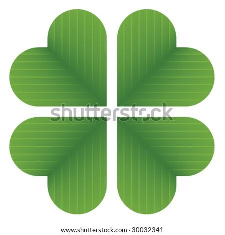 vector four leaf clover - stock vector