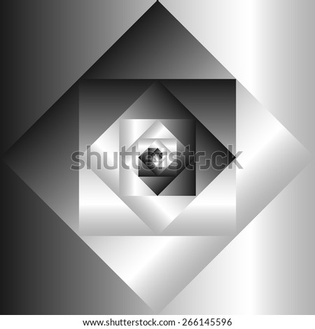 Vector fractal abstract geometric background  - stock vector