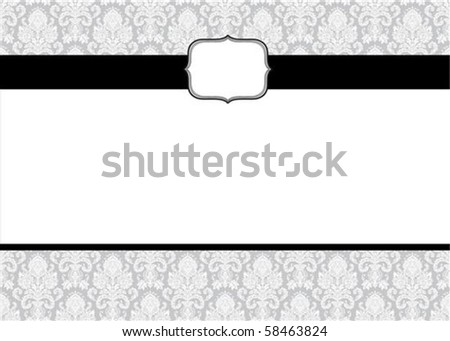 Vector frame and seamless pattern. Seamless tile included. Easy to change colors. - stock vector