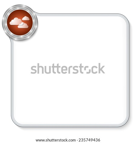 vector frame for any text and clouds - stock vector