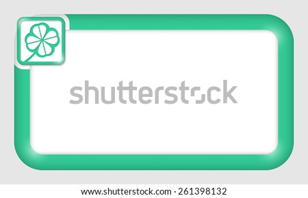vector frame for your text and cloverleaf - stock vector