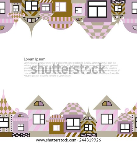 Vector frame houses. Design houses for registration of pages of the magazine, catalog, etc. - stock vector