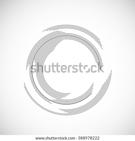 Vector Frame in circle form.