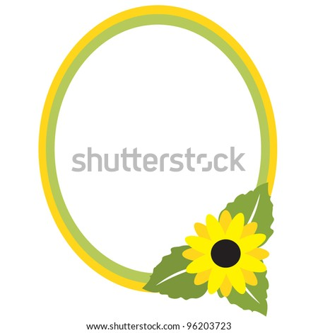 Vector frame in pastel colors with flower - stock vector