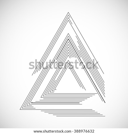 Vector Frame in triangle form. - stock vector