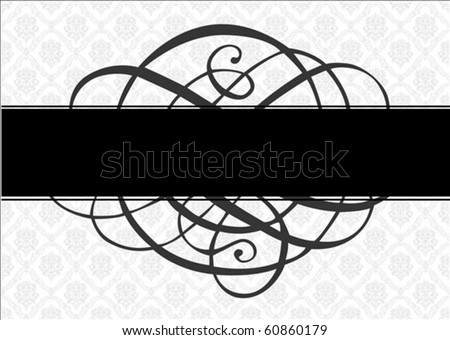 Vector frame, ornament, and pattern. Perfect as an invitation or announcement.  Pattern is included as seamless swatch. All pieces are separate. - stock vector