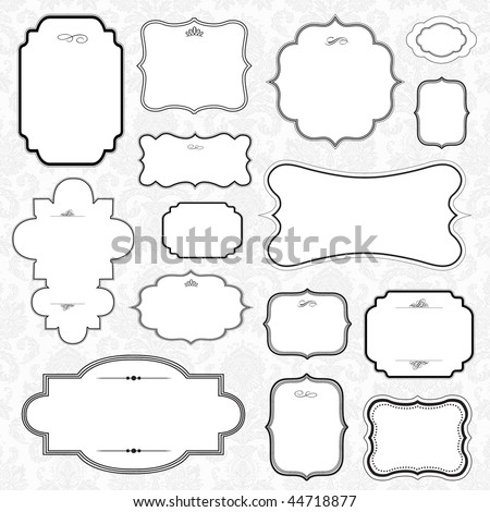 Vector Frame Set - stock vector
