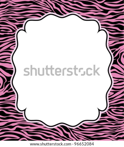 vector frame with abstract zebra skin texture and copy-space - stock vector