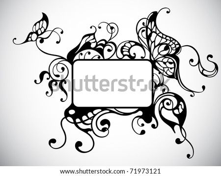 vector frame with butterfly
