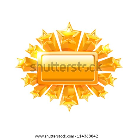 Vector frame with stars. - stock vector