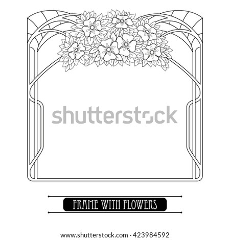 window frame coloring pages - photo#15