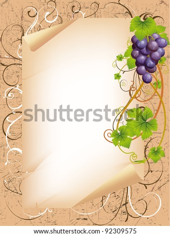vector frame with vine